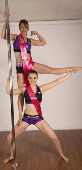 Pole dancing sashes
