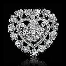 Rhinestone Heart Pin