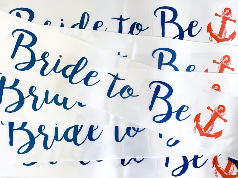Bride to Be Sailor Theme