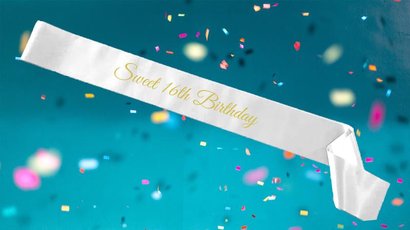 Birthday Age Sashes