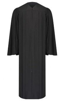 High school graduation gown