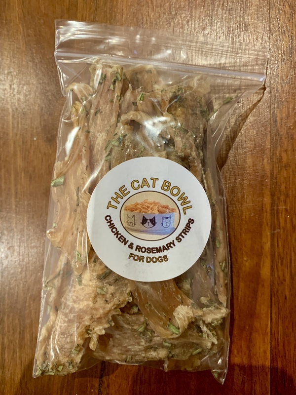 Chicken & Rosemary Treats - STRIPS - resealable bag