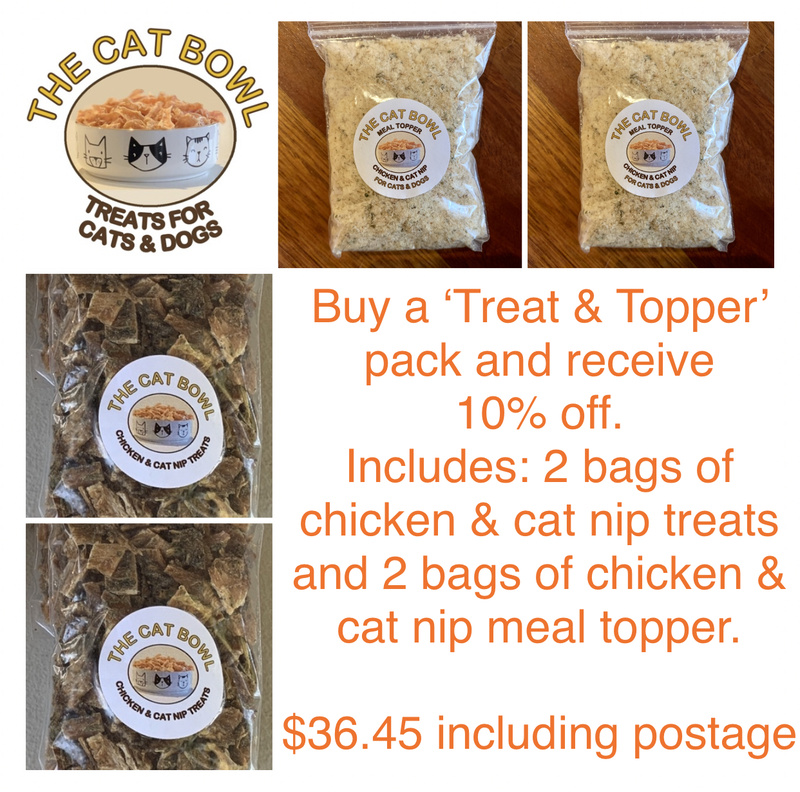Treat & Topper Pack: Chicken & Cat Nip (includes postage)