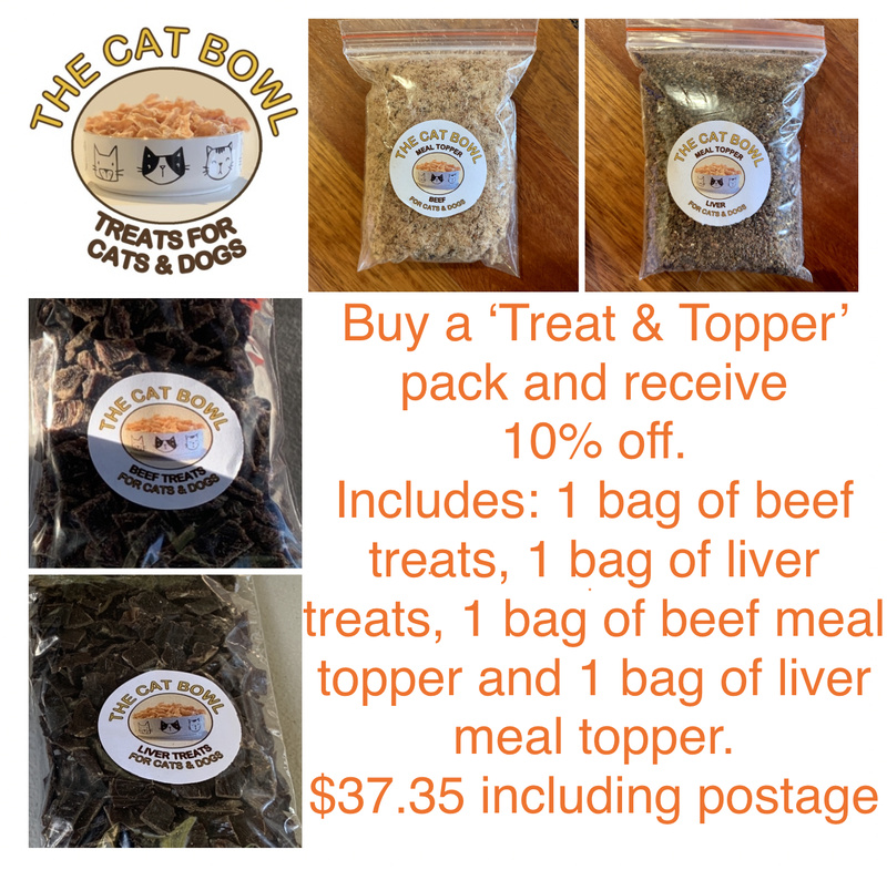 Treats & Topper Pack: Beef & Liver (includes postage)