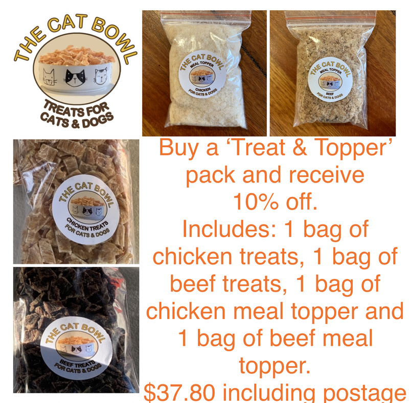 Treat & Meal Topper Pack: Beef & Chicken (includes postage)