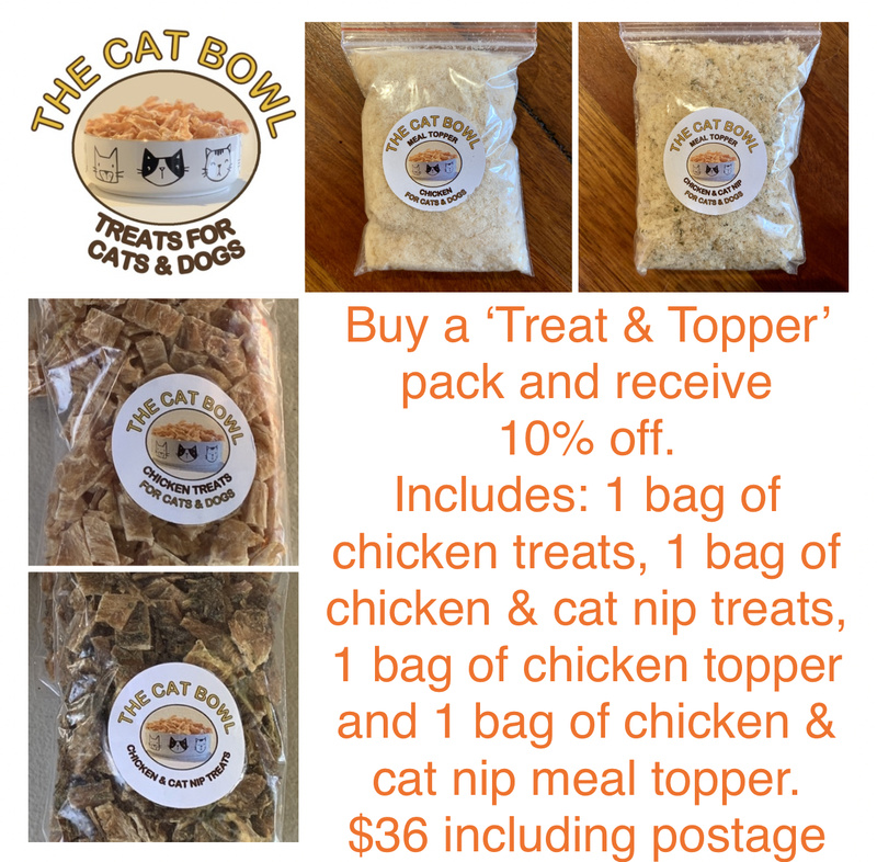 Treat & Topper Pack: Chicken and Chicken & Cat Nip (includes postage)