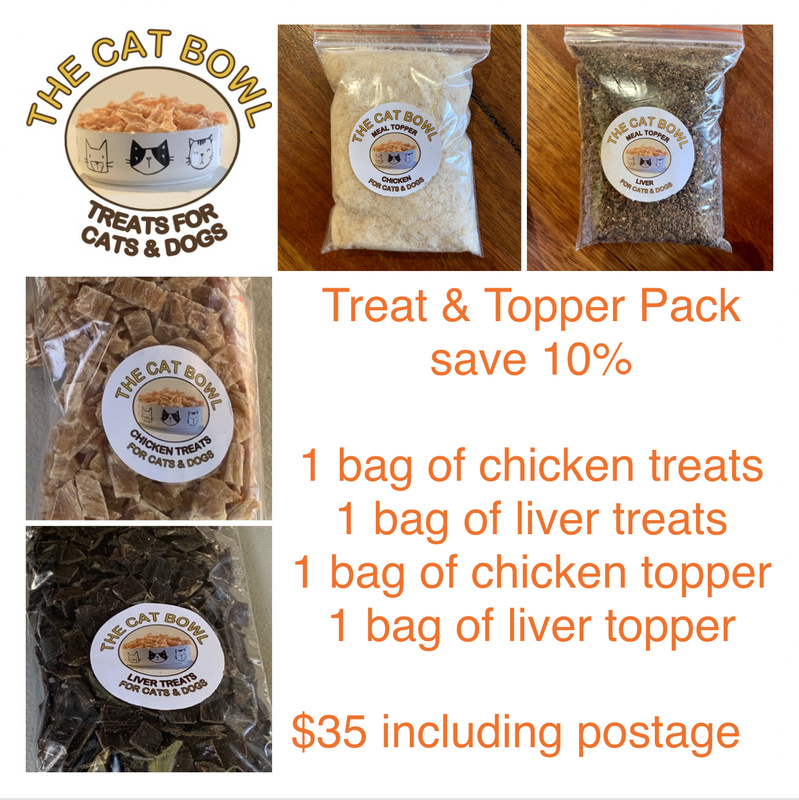 Treats & Topper Pack: Chicken & Liver (includes postage)