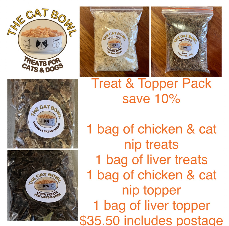 Treat & Topper Pack: Liver and Chicken & Cat Nip (includes postage)