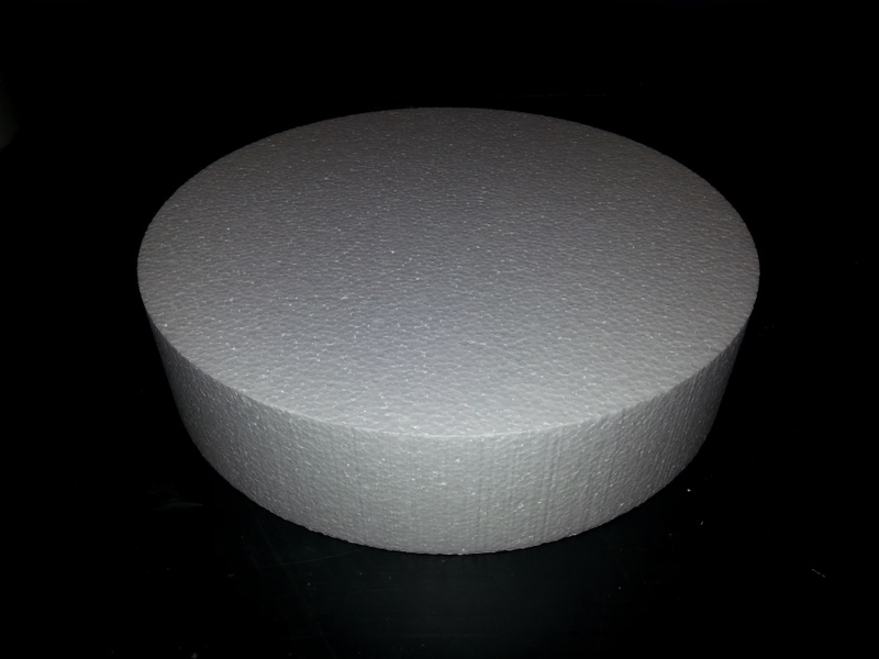 Polystyrene Cake Dummies 8inch =  203mm - 75mm thick