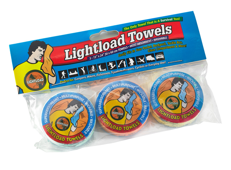 Lightload Towels 3 Pack - 30 x 60cm
