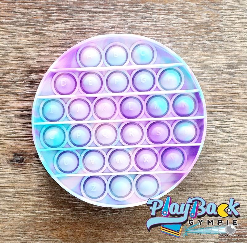POP It! Tie Dye Round Cotton Candy