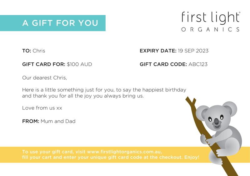 First Light Organics Gift card