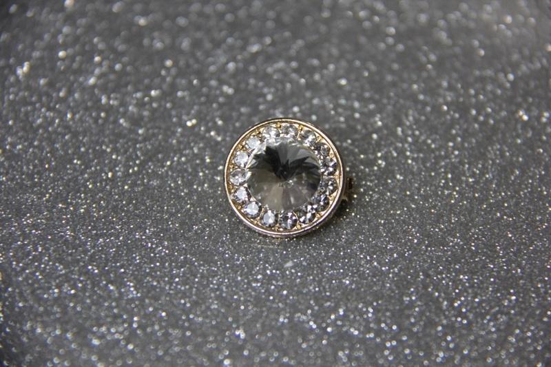 Silver Crystal Pin