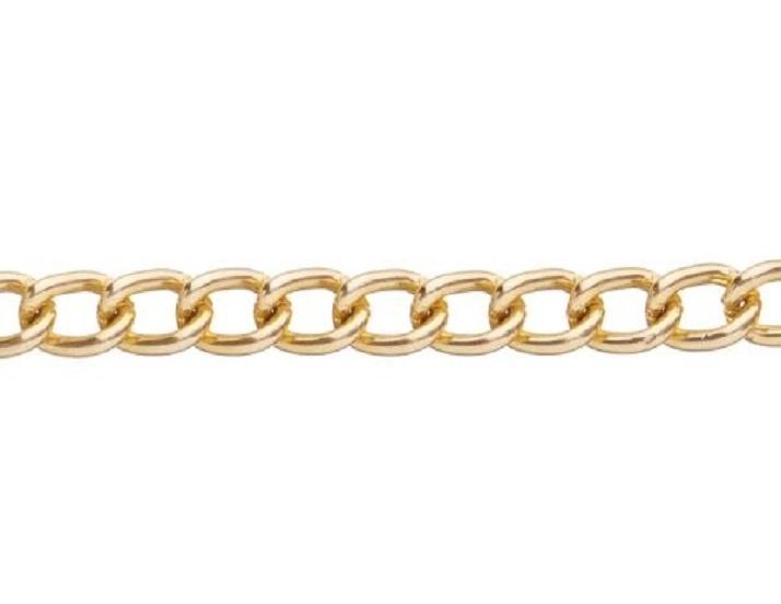 GC-G-01 - Metal Chain - Gold - 1 Metre - 8mm x 5mm