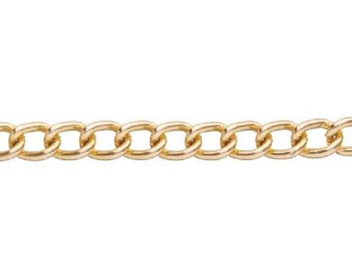 GC-G-01 - Metal Chain - Gold - 1 Metre - 6mm x 4mm