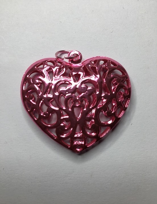 Filigree Hearts - 40mm - 1 Piece
