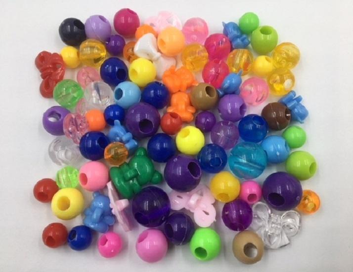 Large Plastic Beads - 100g