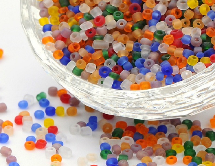 Seed Beads - 2mm - Frosted - 20g - 10 Colours to Choose From