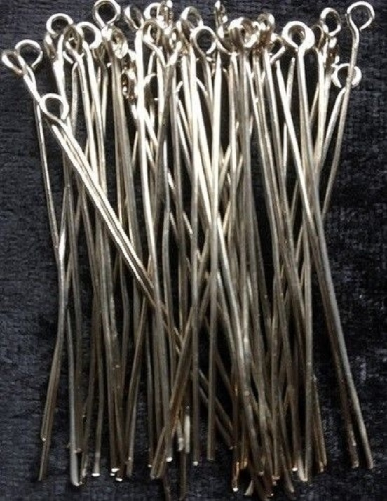 Eye Pins - Silver - 50mm - 50 Pieces