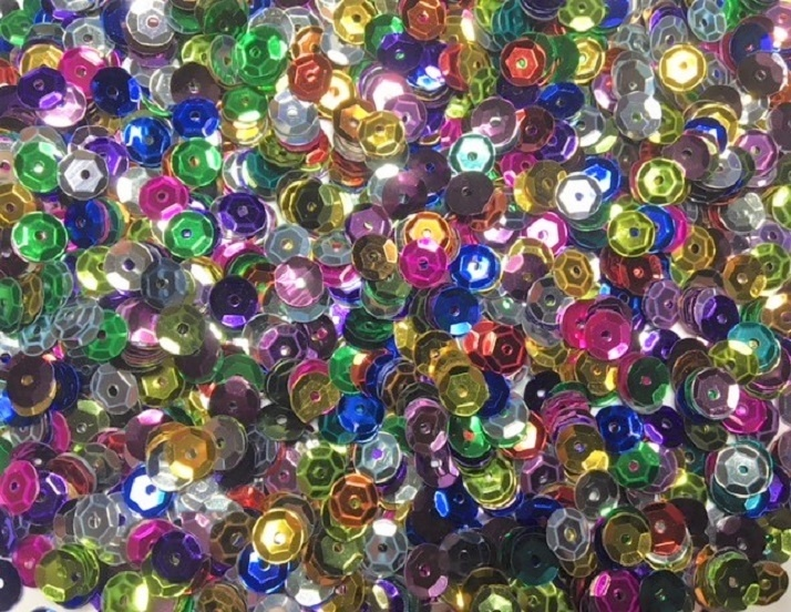 Sequins - Multi - Cups - 6mm