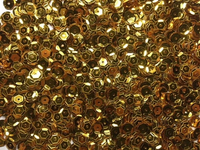 Sequins - Gold - Cups - 6mm