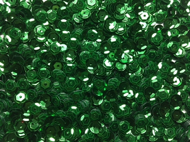 Sequins - Green - Cups - 6mm