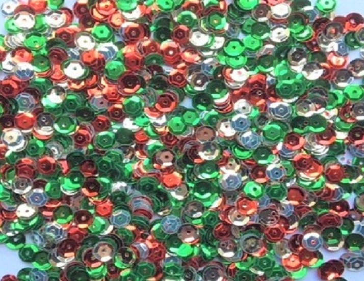 Sequins - Xmas - Cups - 6mm