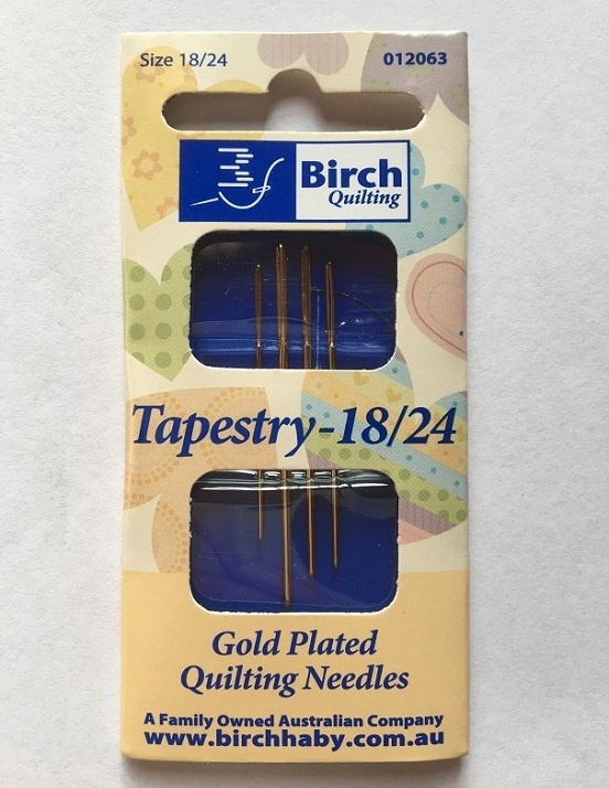 Tapestry Needles - Size 18/24  Pack 4