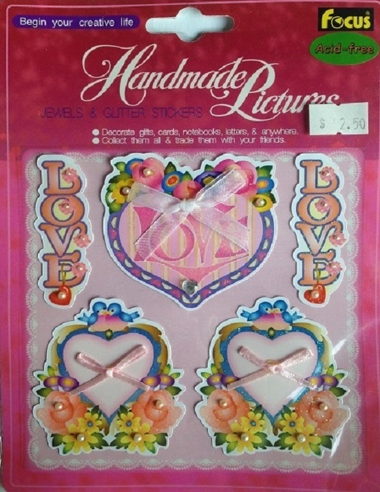 3D Love Stickers - No. 4