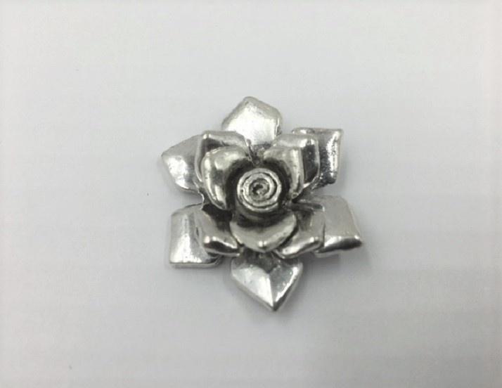 Flower - Silver - 35mm - 1 Piece