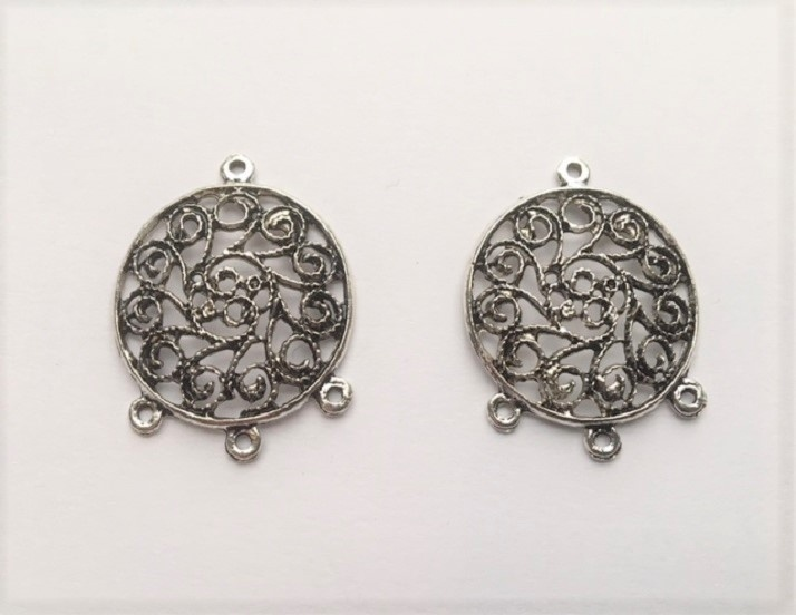Earring Components - Circles - 2 Pieces