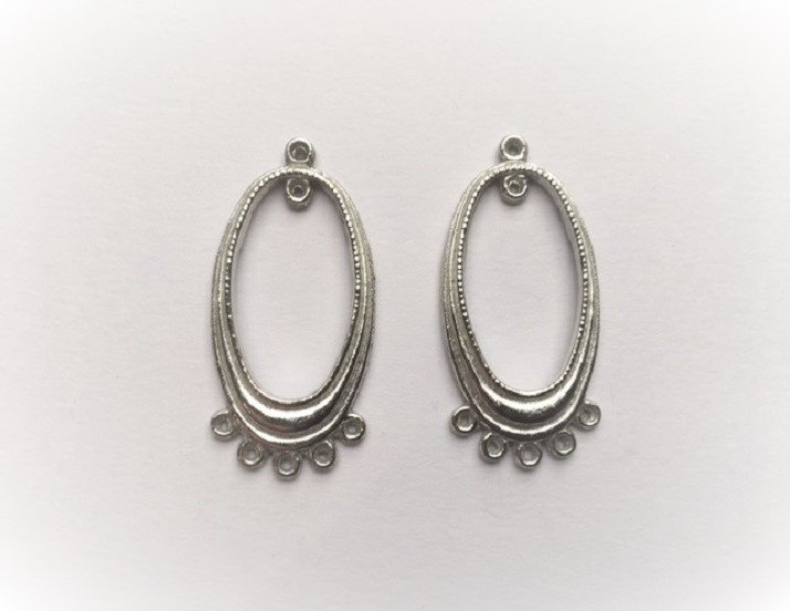 Earring Components - Ovals - 2 Pieces