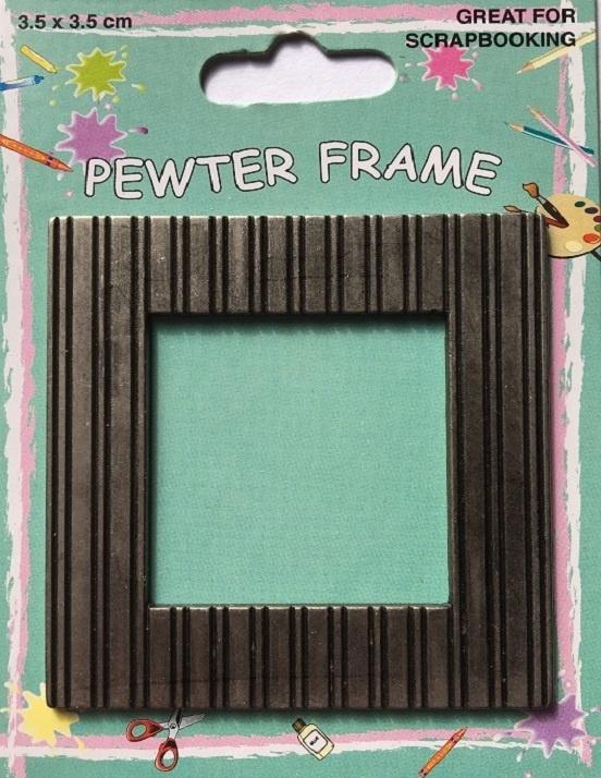 Pewter Frame - Stripes