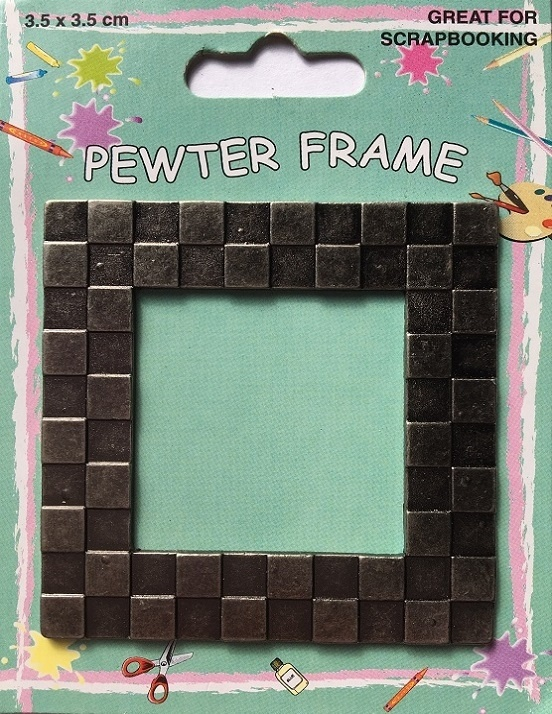 Pewter Frame - Checkered