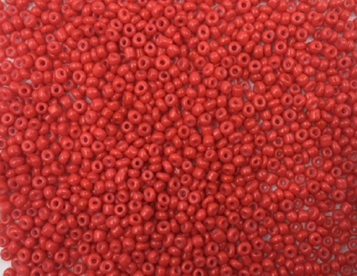 Seed Beads - Opaque Red - 2mm - 20g