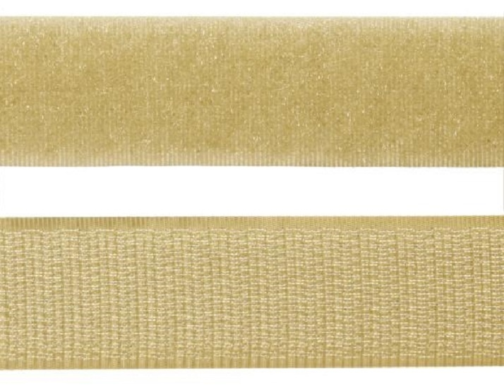 Velcro® Sew-On - 20mm - Length 10cm - Beige
