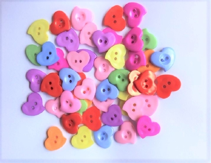Craft Heart Buttons