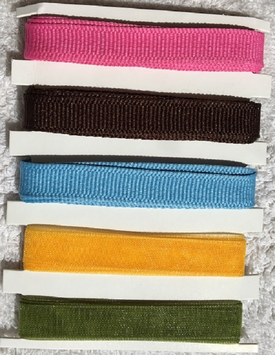 Assorted Ribbon - 5 Colours - No. 3