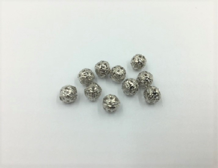 Filigree Balls - Silver - 6mm - 10 Pieces