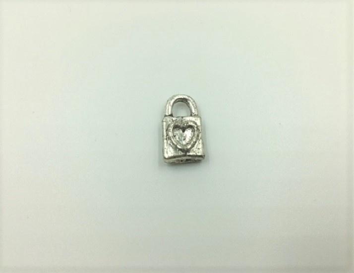 Padlock - 1 Piece - Antique Silver