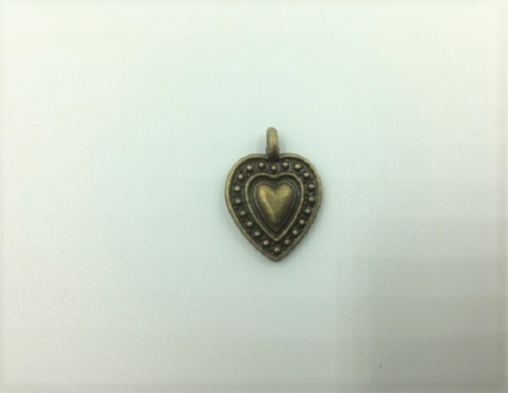 Heart - 1 Piece - Antique Bronze