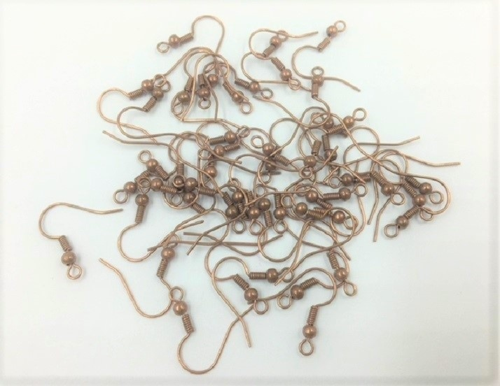 Sheppard Earring Hooks - Copper - 50 Pieces