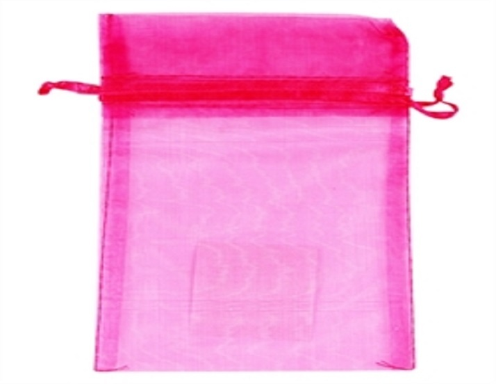 Organza Bag - Hot Pink - 150mm x 95mm