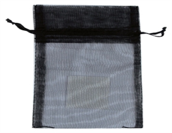 Organza Bag - Black - 150mm x 95mm