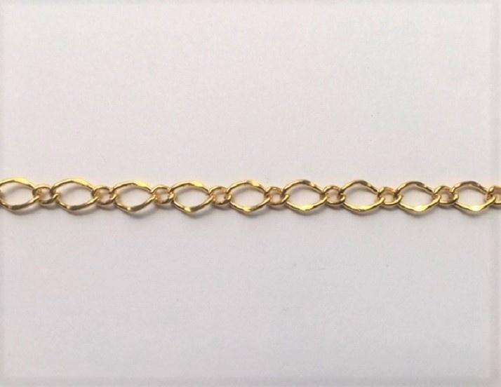 GC-G-02 - Metal Chain - Gold - 1 Metre - 8mm x 5mm