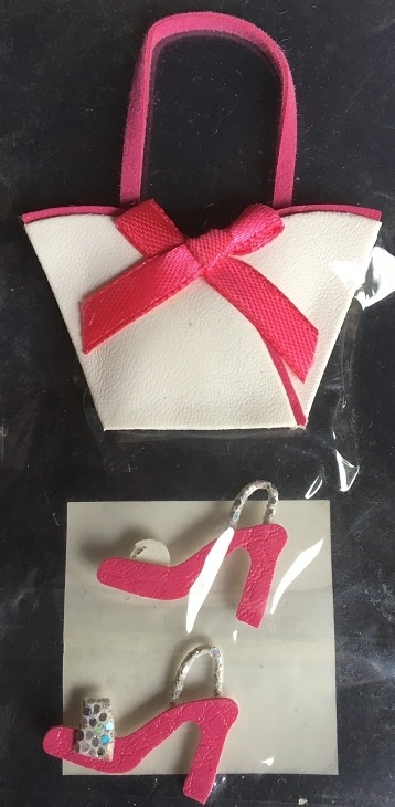 Stickers - 3D - Handbag & Shoes - Pink/White
