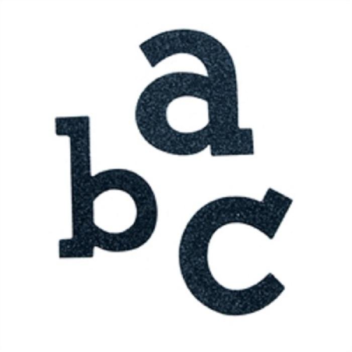Stickers - Glitter - Alphabet Lowercase - Black