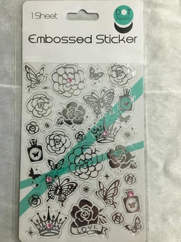 Stickers - Embossed - Flowers