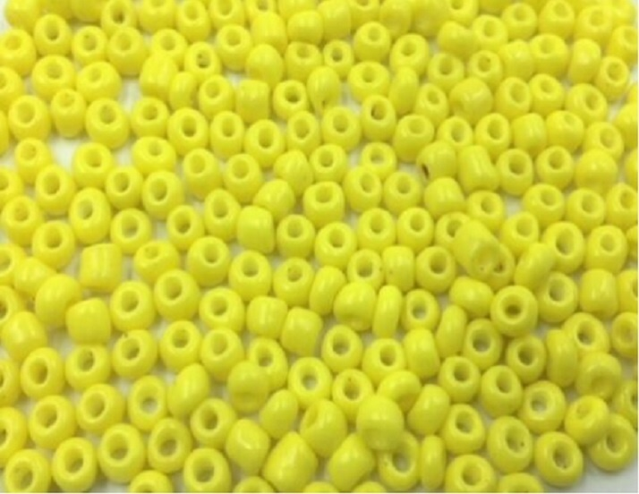 Seed Beads - Glass - Opaque Yellow - 4mm-5mm - 20g