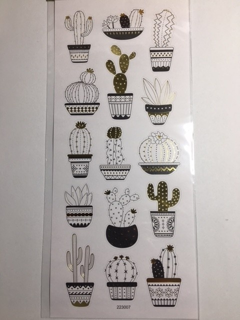 Stickers - Gold & Silver - Cactus